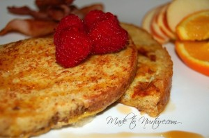 French toast with text